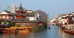 China-neues Jahr NanJing-Stadt-Konfuzius-Tempel stockbild