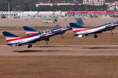 China new intercepter fighter -J-10 Stock Image