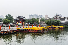 China New year NanJing City Confucius Temple Royalty Free Stock Photo