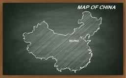 China no quadro-negro Imagem de Stock Royalty Free