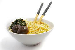 China noodles. On white background Stock Images