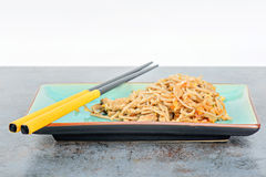China noodles with vegetables and meat Royalty Free Stock Images