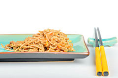 China noodles with vegetables and meat Royalty Free Stock Photo