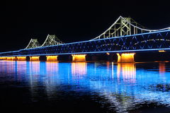 China and North Korea Friendship Bridge Stock Photo