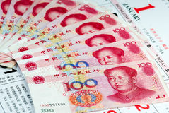 China notes stock photography