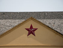 China old building with five-pointed star Stock Photo