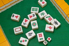 China old game Mahjong Stock Image