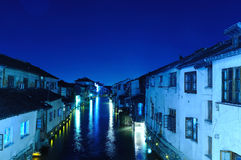 China old houses located by riverside. Royalty Free Stock Images