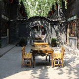 China old residential courtyard. Taken in Pingyao County of Shanxi province China Royalty Free Stock Photo