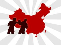 China olympic. Wallpaper background for china olympic games with red stripes stock photo