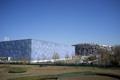 2008 China Olympic building Royalty Free Stock Images