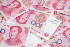 China one hundred  yuan Stock Photography