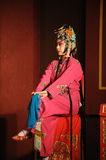China opera actress sit in a chair Royalty Free Stock Photography