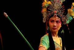 China Opera Iron Fan Princess Royalty Free Stock Photo