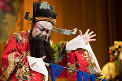 China opera man Angry Stock Photo