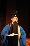 China opera man with long black beard. China opera man,he with long black beard Royalty Free Stock Photo