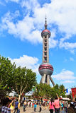 China. the Oriental pearl TV tower is a famous landmark in Shanghai. Stock Images