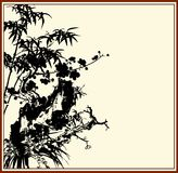 China painting bamboo Royalty Free Stock Images