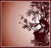 China painting bamboo Stock Photo