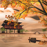 China Painting Style Landscape Stock Photos