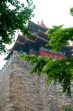 China Palace tower. China Beijing Forbidden City tower Royalty Free Stock Image