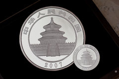 China Panda coin Royalty Free Stock Images