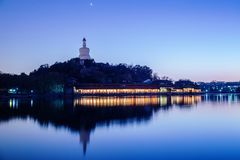 Night view of beihai park,china Stock Photo