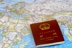 China Passport. People republic of China passport travel world Stock Photos