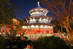 The China pavilion at Epcot in Walt Disney World. Orlando, FL, Replica of the Temple of Heaven, which contains the entrance to Reflections of China, a Circle royalty free stock photos