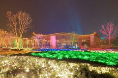 The China Pavilion in the International Horticultural Exhibition 2019 Beijing China.  royalty free stock image