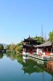 China pavilion of the lake Stock Photography