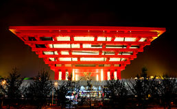 The China Pavilion at World Expo in Shanghai Royalty Free Stock Photo