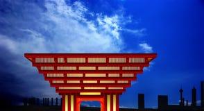 China-Pavillion lizenzfreie abbildung