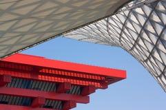 China-Pavillion-und Ausstellungs-Mittellinie lizenzfreie stockfotos