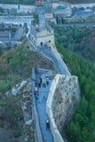China, Pekin, China wall, sunset, history. 2016. Big China wall at Pekin, sunset, history building. 2016 Travel photo Royalty Free Stock Photos