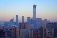 China Peking CBD, de stedelijke bureaubouw stock afbeeldingen