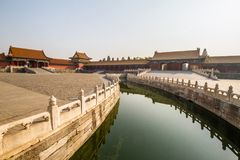 China, Peking, Verboden Stad Stock Foto