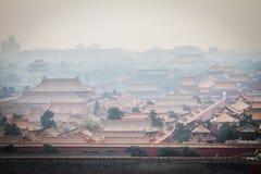China, Peking, Verboden Stad, de rook Royalty-vrije Stock Fotografie