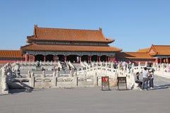 China Peking Verboden stad De zaal van Opperste Harmonie Royalty-vrije Stock Foto's