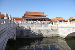 China Peking Verboden stad De zaal van Opperste Harmonie Stock Fotografie