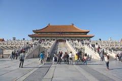China Peking Verboden stad De zaal van Opperste Harmonie Royalty-vrije Stock Fotografie