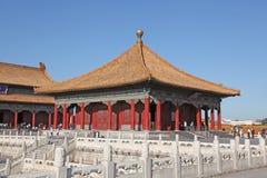China Peking Verboden stad Zaal van het Bewaren van Harmonie Stock Foto's