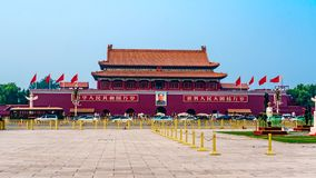 China Peking Verbotene Stadt am Tiananmen-Platz stock footage