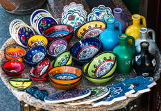 China Plates in Istanbul Royalty Free Stock Images