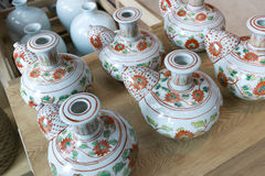 China Porcelain. Porcelain wares styled from the Ming Dynasty Royalty Free Stock Photography