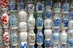 China Porcelain House Museum ChinaHouse Tianjin Ceramic tile Vase Mosaic royalty free stock image