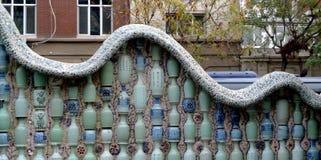 China Porcelain House Museum ChinaHouse Tianjin Ceramic tile Vase Mosaic stock photo
