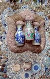 China Porcelain House Museum ChinaHouse Tianjin Ceramic tile Vase Mosaic royalty free stock photos