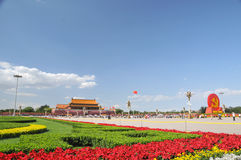 China is preparing for the 90th on Tiananmen Royalty Free Stock Photography