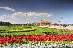 China is preparing for the 90th on Tiananmen Royalty Free Stock Image